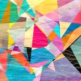 Αφηρημένο γεωμετρικό υπόβαθρο watercolor Στοκ φωτογραφίες με δικαίωμα ελεύθερης χρήσης