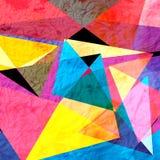 Αφηρημένο γεωμετρικό υπόβαθρο watercolor Στοκ εικόνα με δικαίωμα ελεύθερης χρήσης