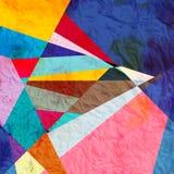 Αφηρημένο γεωμετρικό υπόβαθρο watercolor Στοκ εικόνες με δικαίωμα ελεύθερης χρήσης