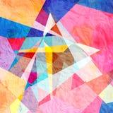 Αφηρημένο γεωμετρικό υπόβαθρο watercolor Στοκ Φωτογραφίες