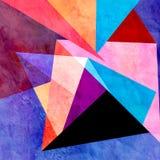 Αφηρημένο γεωμετρικό υπόβαθρο watercolor Στοκ Φωτογραφία