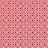 Αφηρημένο γεωμετρικό Floral άνευ ραφής σχέδιο στο κόκκινο υπόβαθρο απεικόνιση αποθεμάτων