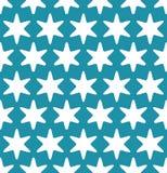 Αφηρημένο γεωμετρικό hipster μόδας σχέδιο αστεριών Χριστουγέννων μαξιλαριών μπλε Στοκ Φωτογραφία