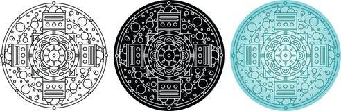 Αφηρημένο γεωμετρικό mandala με τις φυσαλίδες Στοκ φωτογραφία με δικαίωμα ελεύθερης χρήσης