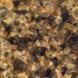 Αφηρημένο γεωμετρικό polygonal καφετί υπόβαθρο. Στοκ Εικόνες