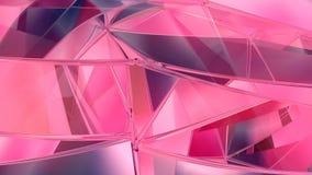 Αφηρημένο γεωμετρικό polygonal υπόβαθρο κινήσεων Τηλεοπτικός εταιρικός περιτυλίχτηκε ζωτικότητα τρισδιάστατη απόδοση διανυσματική απεικόνιση