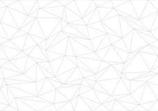 Αφηρημένο γκρίζο πολύγωνο τριγώνων γραμμών στο άσπρο διάνυσμα υποβάθρου διανυσματική απεικόνιση