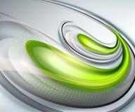 Αφηρημένο γκρίζο υπόβαθρο με πράσινο ελεύθερη απεικόνιση δικαιώματος