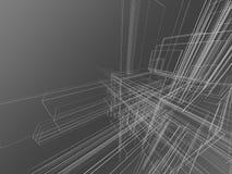 αφηρημένο γκρίζο wireframe Στοκ Φωτογραφία