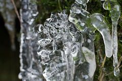 Αφηρημένο γλυπτό πάγου στοκ φωτογραφίες με δικαίωμα ελεύθερης χρήσης