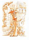 αφηρημένο γλυπτό σκίτσο Στοκ εικόνα με δικαίωμα ελεύθερης χρήσης