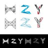 Αφηρημένο γράμμα Υ logotype Καθολικό γεωμετρικό εικονίδιο πηγών συμβόλων Στοκ Εικόνες