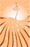 αφηρημένο δέντρο ανασκόπησ&et Στοκ Εικόνα