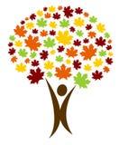 αφηρημένο δέντρο προσώπων διανυσματική απεικόνιση