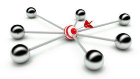 αφηρημένο δίκτυο ηγεσίας  απεικόνιση αποθεμάτων