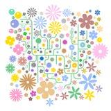 αφηρημένο διάνυσμα λουλ&omi Στοκ εικόνα με δικαίωμα ελεύθερης χρήσης