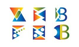 Αφηρημένο διάνυσμα σχεδίου εικονιδίων λογότυπων - δημιουργικό πρότυπο λογότυπων επιχείρησης ελεύθερη απεικόνιση δικαιώματος