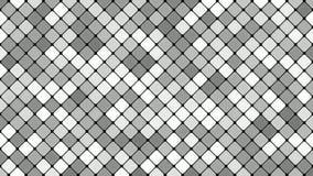 Αφηρημένο διαγώνιο τετραγωνικό υπόβαθρο σχεδίων μωσαϊκών - άνευ ραφής κίνηση βρόχων γραφική στους γκρίζους τόνους διανυσματική απεικόνιση