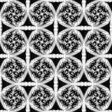 Αφηρημένο διανυσματικό άνευ ραφής σχέδιο με το κατσάρωμα των γραμμών και του πλέγματος Διακοσμητική ατελείωτη σύσταση Στοκ Φωτογραφίες