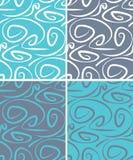 Αφηρημένο διανυσματικό άνευ ραφής σχέδιο με το ρέοντας υπόβαθρο γραμμών, κύματα καμπυλών, καμμμένες γεωμετρικές μπούκλες στοκ εικόνες