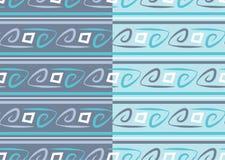 Αφηρημένο διανυσματικό άνευ ραφής σχέδιο με το ρέοντας υπόβαθρο γραμμών, κύματα καμπυλών, καμμμένες γεωμετρικές μπούκλες στοκ φωτογραφία με δικαίωμα ελεύθερης χρήσης