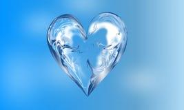Αφηρημένο διανυσματικό μπλε σκιασμένο κυματιστό υπόβαθρο καρδιών με την επίδραση φωτισμού, ομαλή, καμπύλη, διανυσματική απεικόνισ ελεύθερη απεικόνιση δικαιώματος