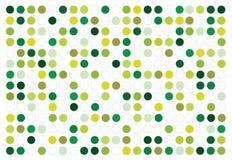 Αφηρημένο διανυσματικό πράσινο υπόβαθρο κύκλων Στοκ Φωτογραφία