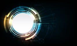 Αφηρημένο διανυσματικό σχέδιο τεχνολογίας κύκλων με το εργαλείο Στοκ Εικόνες