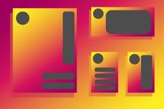 Αφηρημένο διανυσματικό σύγχρονο φυλλάδιο ιπτάμενων, ετήσια έκθεση, πρότυπα σχεδίου ελεύθερη απεικόνιση δικαιώματος