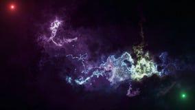 Αφηρημένο διαστημικό υπόβαθρο με τα νεφελώματα και τα αστέρια στοκ εικόνες