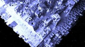 Αφηρημένο διαστημόπλοιο sci-Fi βακκινίων απεικόνιση αποθεμάτων