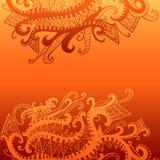 Αφηρημένο, εθνικό, psychedelic υπόβαθρο, κίτρινη πορτοκαλιά κλίση Ελεύθερη απεικόνιση δικαιώματος