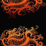 Αφηρημένο, εθνικό, psychedelic υπόβαθρο, κίτρινη πορτοκαλιά κλίση Απεικόνιση αποθεμάτων