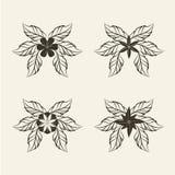 Αφηρημένο εικονίδιο λουλουδιών, απεικόνιση Στοκ Εικόνες