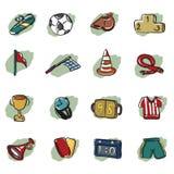 Αφηρημένο εικονίδιο ποδοσφαίρου απεικόνιση αποθεμάτων