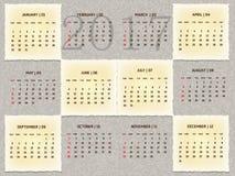 Αφηρημένο εκλεκτής ποιότητας ημερολόγιο έτους 2017 Στοκ Εικόνα