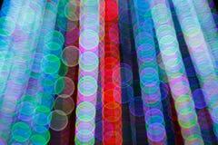 Αφηρημένο ελαφρύ υπόβαθρο Bokeh Εικόνα θαμπάδων του φωτός defocus τη νύχτα Στοκ Φωτογραφίες
