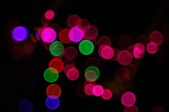 Αφηρημένο ελαφρύ υπόβαθρο Bokeh Εικόνα θαμπάδων του φωτός defocus τη νύχτα Στοκ εικόνα με δικαίωμα ελεύθερης χρήσης