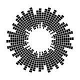 Αφηρημένο εξισωτών μουσικής υγιών κυμάτων σύμβολο εικονιδίων κύκλων διανυσματικό σχέδιο λογότυπων, στρογγυλό εικονίδιο γραμμών, σ Στοκ Φωτογραφίες