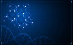 Αφηρημένο επιστημονικό υπόβαθρο έννοιας καινοτομίας τεχνολογίας Στοκ εικόνα με δικαίωμα ελεύθερης χρήσης