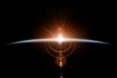 Αφηρημένο επιστημονικό υπόβαθρο - καμμένος πλανήτης διανυσματική απεικόνιση