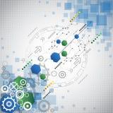 Αφηρημένο επιχειρησιακό υπόβαθρο τεχνολογίας, διανυσματική απεικόνιση Στοκ Φωτογραφία