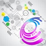 Αφηρημένο επιχειρησιακό υπόβαθρο τεχνολογίας υπολογιστών, διάνυσμα Στοκ Εικόνες