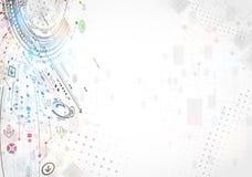 Αφηρημένο επιχειρησιακό υπόβαθρο τεχνολογίας Στοκ Εικόνα