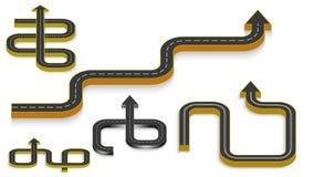 Αφηρημένο επιχειρησιακό infographics υπό μορφή αυτοκινητικού δρόμου με τα οδικά σημάδια 10 eps στοκ φωτογραφία