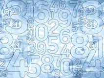 Αφηρημένο λεπτό μπλε υπόβαθρο αριθμών Στοκ Εικόνες