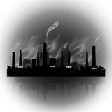 Αφηρημένο εργοστάσιο ελεύθερη απεικόνιση δικαιώματος
