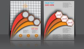 Αφηρημένο ετήσιο έμβλημα εγγράφων Infographic σελίδων περιοδικών προτύπων αφισών κάλυψης βιβλίων φυλλάδιων σχεδιαγράμματος ιπτάμε Στοκ εικόνες με δικαίωμα ελεύθερης χρήσης