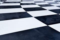 αφηρημένο λευκό τετραγώνων ανασκόπησης μαύρο δυναμικό Στοκ Φωτογραφία