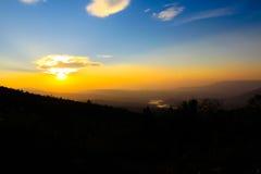 Αφηρημένο ελαφρύ βουνό χρώματος βόρεια της Ταϊλάνδης Στοκ φωτογραφία με δικαίωμα ελεύθερης χρήσης